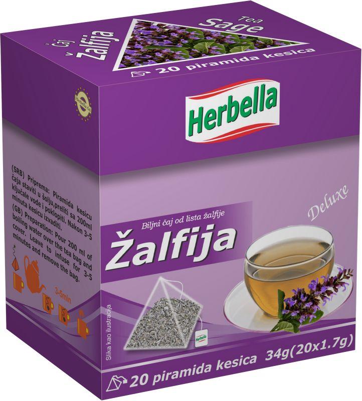 Herbella Zalfija caj u piramida kesici