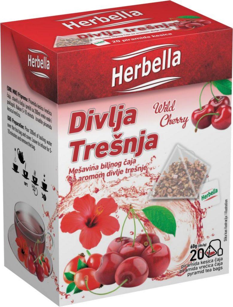 Malina impex Herbella Divlja trešnja čaj u piramida kesici