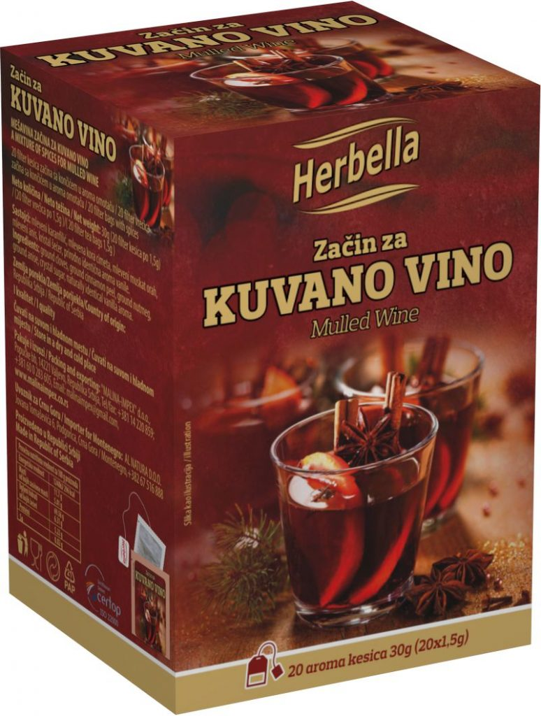 Malina impex Herbella Začin za kuvano vino u filter kesici